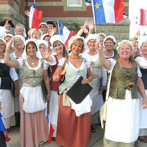 Acadians celebrate their national holiday in front of Fredericton City Hall on August 15th