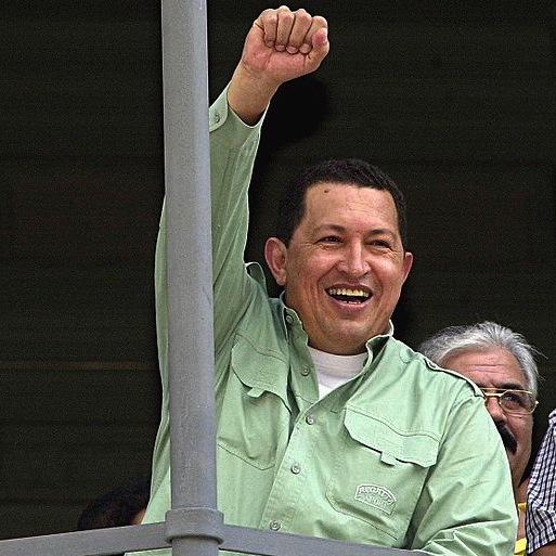 Hugo Chávez in Porto Alegre, Brazil. on January 26, 2003. Photo from Wikimedia Commons.