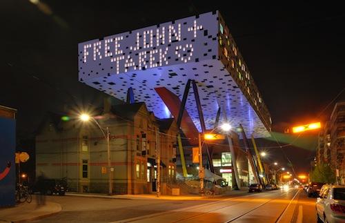 Toronto's Ontario College of Art and Design shows its support for John Greyson and Tarek Loubani.
