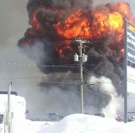 A tanker truck responded to the large industrial fire on Hanwell Road in Fredericton on Feb. 8. Firefighters are concerned that a tanker truck is being removed from service in the north side of Fredericton. Photo from the Fredericton Firefighters Association.