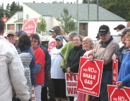 protesters Richibucto summer 2013