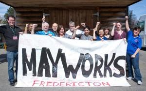 Mayworks Fredericton 2016 banner