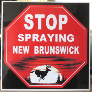 stop spraying NB sign - doaktown aug 10 2016