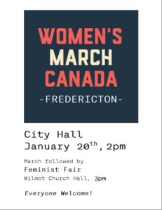 Women's March Canada - Fredericton March @ City Hall, Fredericton, NB | Fredericton | New Brunswick | Canada