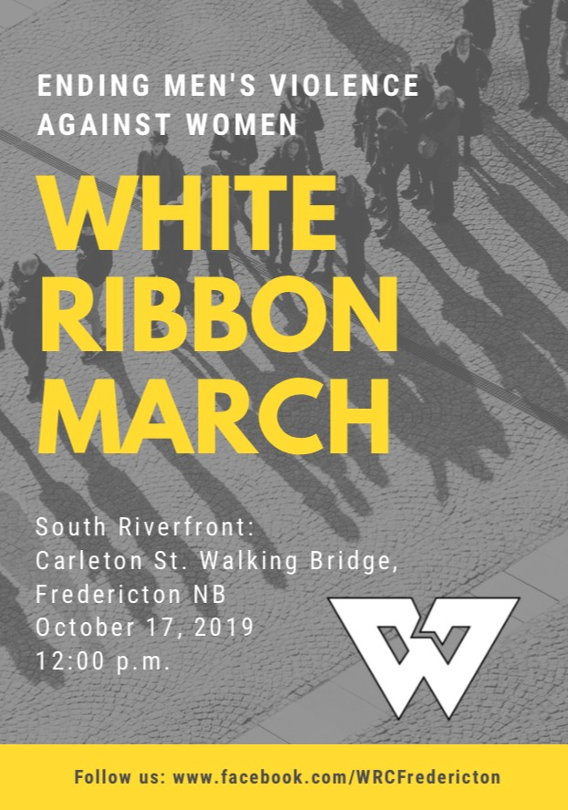 White Ribbon Fredericton March @ South Riverfront: Carleton St. Walking Bridge