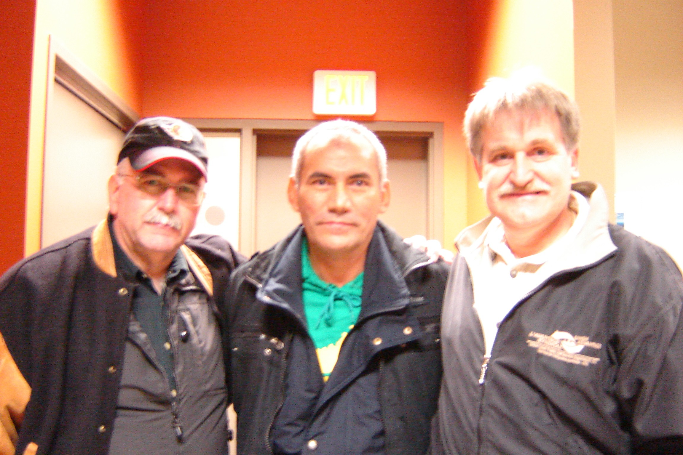Danny Leger, CUPE, Jesus Brochero, Colombian union leader and Michel Boudreau, New Brunswick Federation of Labour