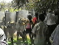 Violent eviction of Tabaco community, Colombia