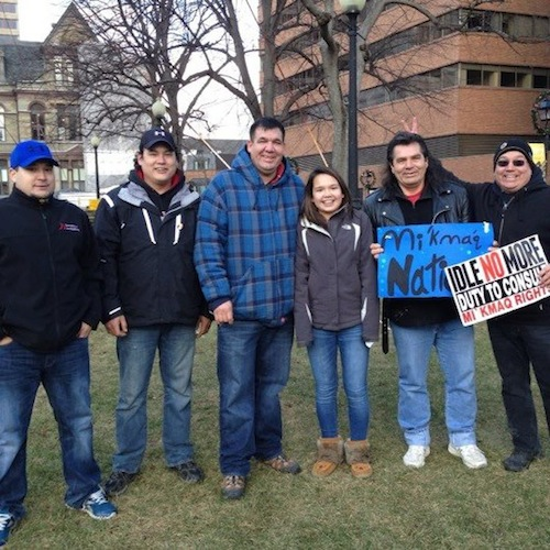 Mi'kmaq people in Ottawa for Idle No More. Photo: Jonathan Augustine.