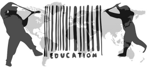 An image from occupywallst.org, calling for a global education strike in the fall of 2012