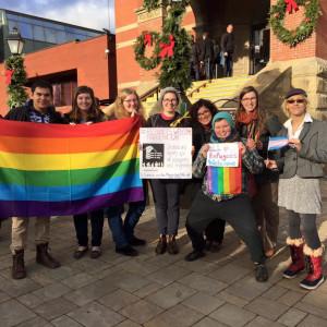 LGBTQ Refuges Welcome Rally Gul Caliskan
